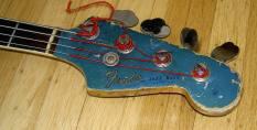 Klaus' Original bass headstock