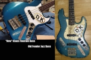 Side by side comparison of both basses